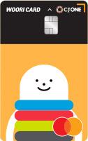 CJONE 우리카드체크 카드 이미지