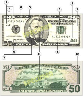 50불 신권(96년도판) 화폐